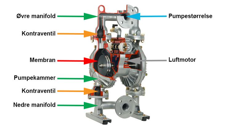 Typebetegnelse for PLUSAIR AODD pumper