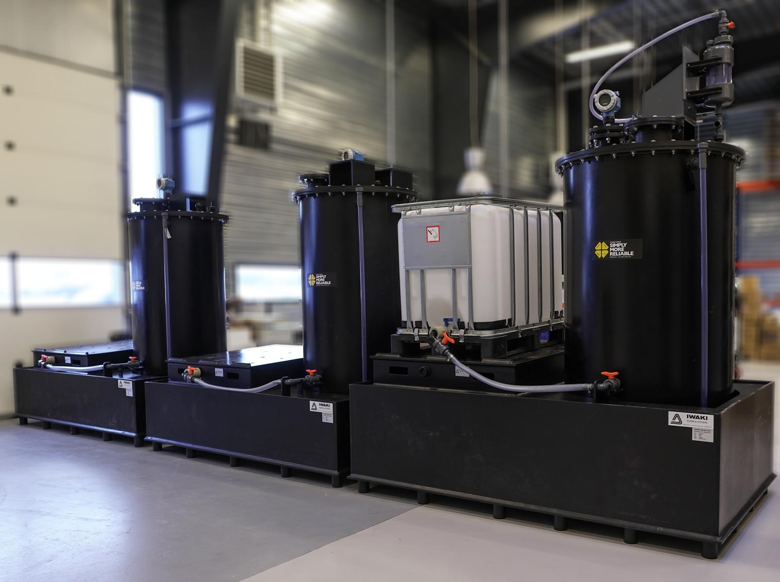 IBC lagerenhed i PE100-RC til hurtig og sikker ombytning af palletanke