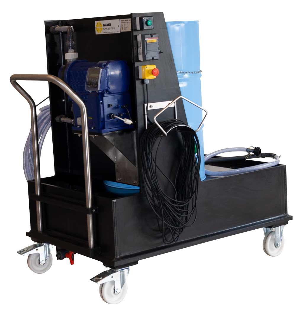 Mobil unit with IX-D dosing pump
