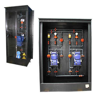dosing cabinet with ix-pump